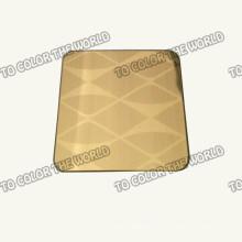 430 Edelstahl geätztes Blatt Ket012 für Dekorationsmaterialien