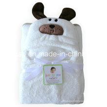 Capa gruesa Bebé Capa blanca con capucha Capa animal creativa en forma de