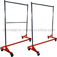 Commercial Grade Nesting Rolling Z Single Rack Garment Cloth Rack