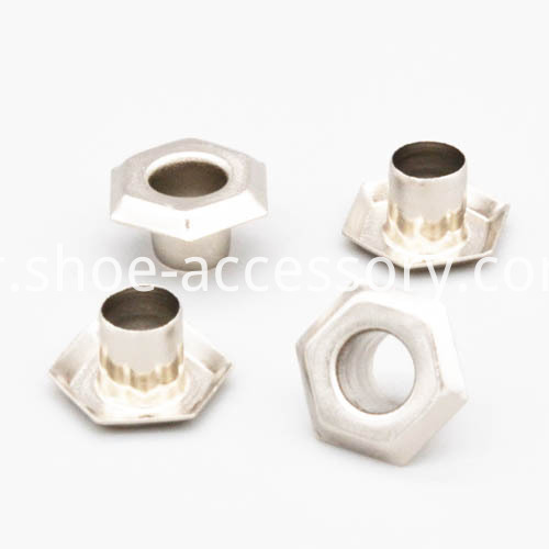 Silver Hexagon Eyelets