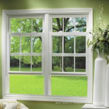 Dernière conception fenêtre accrochée supérieure coulissante pour usa avec oem de marque Wanjia