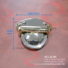 Big Large Brass Gold Push Button Lock