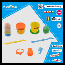 Funny promotion de coiffeur jouets couleur argile outil set diy plasticine industrielle