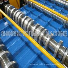 Máquinas rolantes para telhados metálicos coloridos