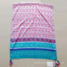 Frauen gedruckt Polyester Paj Emulation Silk Schalldämpfer Schal