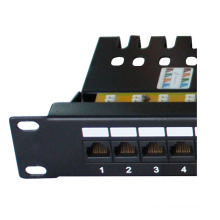 STP blindagem RJ45 24 Port Cat6 Patch Panel
