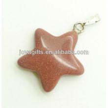 Pendiente de estrella de piedra de oro semi precioso con alta calidad