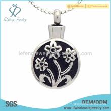 Pendentifs en bijoux de cendres de fleurs de fleurs commémoratives, cadeaux de cendres de crémation en argent