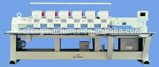 6 head flat embroidery machine