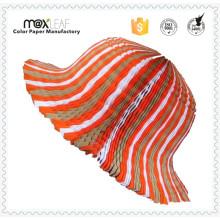 Damen-Mode-Hut-Muster Faltbare Recycled Strand-Stroh-Ebene Sombrero-Hüte