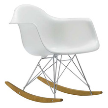 Eames molded plastic armchair-Rocker chair