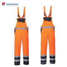 Trajes ajustables de la alta visibilidad de las batas de la seguridad Mens EN471 con las cintas reflexivas y los bolsillos