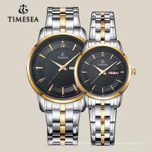 Новый дизайн часы для пары со стальным браслетом из нержавеющей 70001