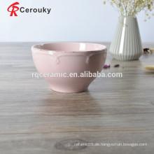 Rosa Farbe Reis Schüssel, Salat Schüssel, Keramik Schüssel