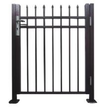 Puerta de aluminio negro de la cerca para el uso residencial