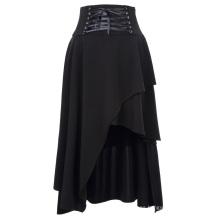 """Belle Poque Mujer Negro Vintage Estilo Gótico Irregular Falda 37 """"BP000344-1"""
