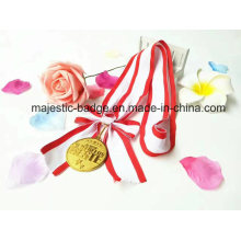 Medal Bowknot Lanyard Whit Red and White (L-Hz-001)