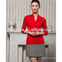 fashion stand colar women's cashmere pullover