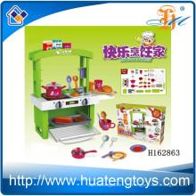 2015 Nouveau produit en plastique ABS grand ensemble de jouets de cuisine pour enfants jouent avec de la lumière H162863