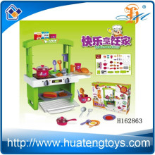 2015 New item ABS plastic big kitchen toy set for kids play with light H162863