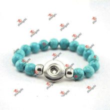 Fashion Custom Green Color Bead Snap Bracelet Jewelry (DAE60226)