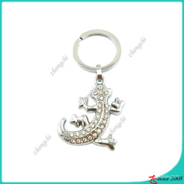 Zinc Alloy Crystals Animal Gecko Key Chain (KC)