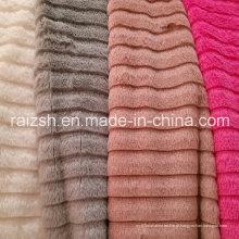 Tiras de corte de fornecimento PV Fleece, PV Velvet Flower Brushed