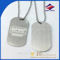 Fábrica de diseño de impresión de plata metal perro etiqueta