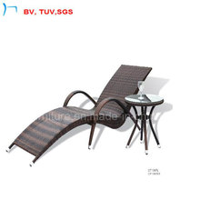 Tumbona moderna al aire libre con mesa auxiliar (CF1007)