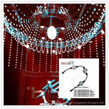 Cortina da corda da esfera da bola do diodo emissor de luz do vídeo 3D de DMX