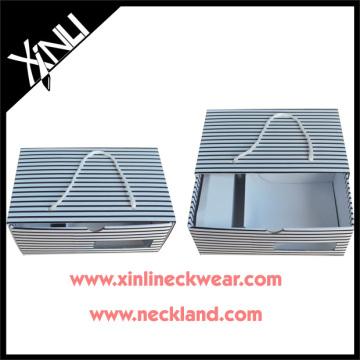 Stripe Designs Tie Hanky Cufflink Tie Clip Set Gift Packaging Necktie Display Boxes
