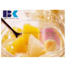Tisch Leckerer gelber Pfirsich in Sirup