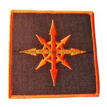 Patch tissé en broderie personnalisé avec logos de filetage (GZHY-PATCH-006)