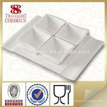 Porzellanplatte, feines Porzellan Geschirr aus weißem Porzellan