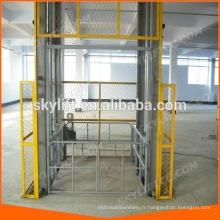 Ascenseur vertical d'ascenseur de cargaison de rail de guide