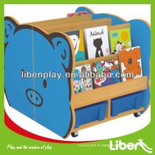 Cabinet de jouets pour enfants en bois pour bibliothèque pour enfants LE.SJ.054