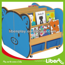 Wooden Kids Toy Cabinet Bookcase for children storage LE.SJ.054