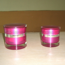 30g 50g Pink Acrylic Cosmetic Jar Skincare Packaging