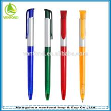Plastique de publicité bas prix promotionnel cliquez sur stylo à bille en gros