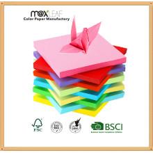 155 * 155m m Colores multi mezclados hecho a mano papel plegable del arte