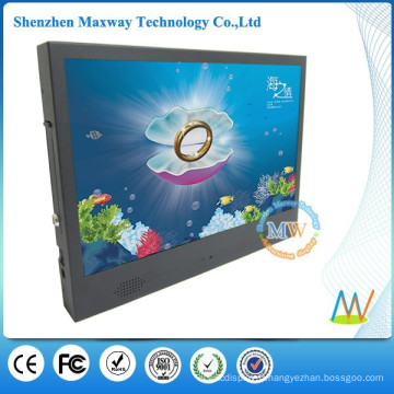 Châssis étroit type mince 19 pouces tft LCD publicité affichage