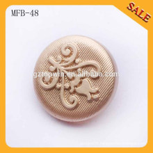 MFB48 new arrival 20mm fashion gold metal shank button for coats 2015