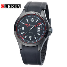 curren silicone belt watch casual business men watch