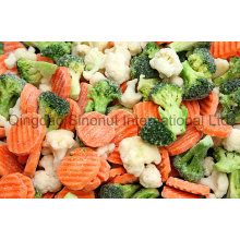 Verduras mixtas congeladas con IQF