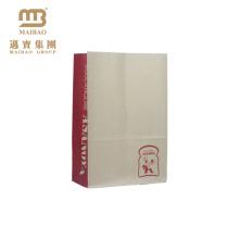 Großhandels-preiswerte Nahrungsmittelverpackung kundengebundene Bäckerei-Gebäck-Keks-Plätzchen-Verpacken Kraftpapier-Tasche für Verkauf
