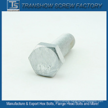 M14*50mm China Manufacturer Silver Coated Hexagon Bolt Grade 12.9