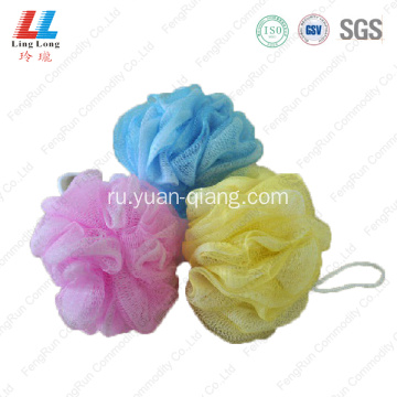 single color exfoliating bath scrubber sponge