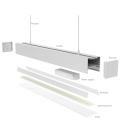 White Black Silver 0-10V Dimmable 1200mm 72w LED Linear Light
