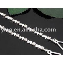 Pulseira de bracelete de diamante de bronze