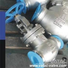 Cf8 же, шариковый клапан cf8m, Евро-3 или Нержавеющая сталь cf8m клапан с РФ или BW концы